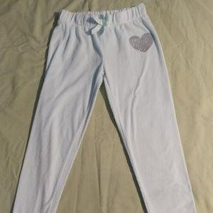 Kensie Girl brand Heart decal Pajama Bottom M 7/8